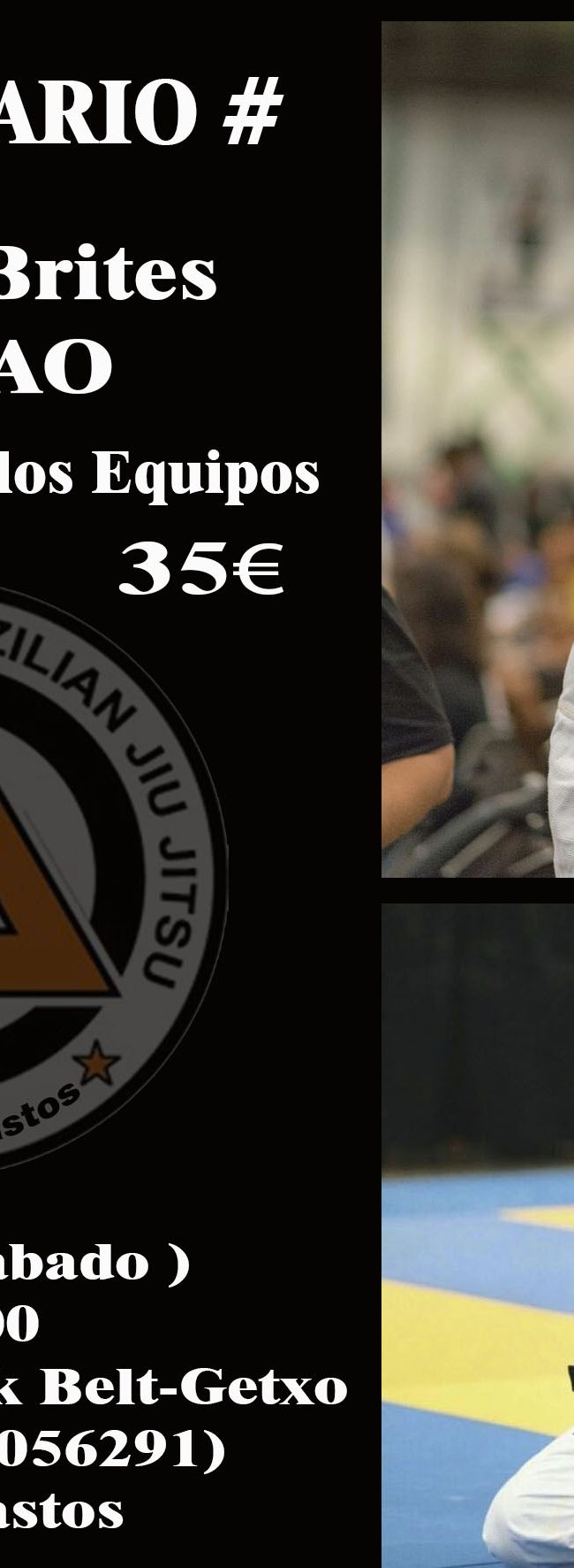 Seminario Maestro Ailson Brites – JUCAO – 27 Enero 2018 sábado en el gimnasio Black Belt getxo abierto a todos los equipo.